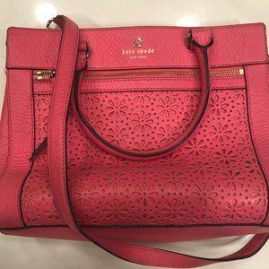 Kate Spade Perri Lane Handbag Coral / Pink Eyelet